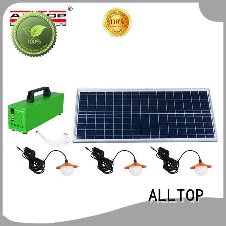 emergency solar house lighting system panel for battery backup ALLTOP