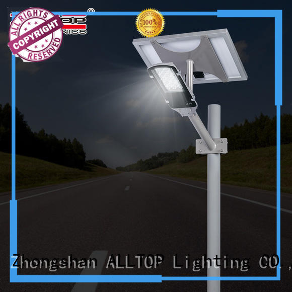 ALLTOP solar street light with battery latest design for landscape