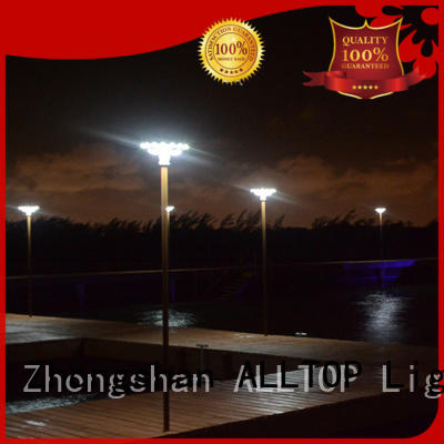 ALLTOP custom watt solar pillar lights classical for landscape