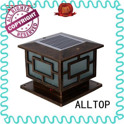 ALLTOP fancy design solar powered light post supplier for decoration