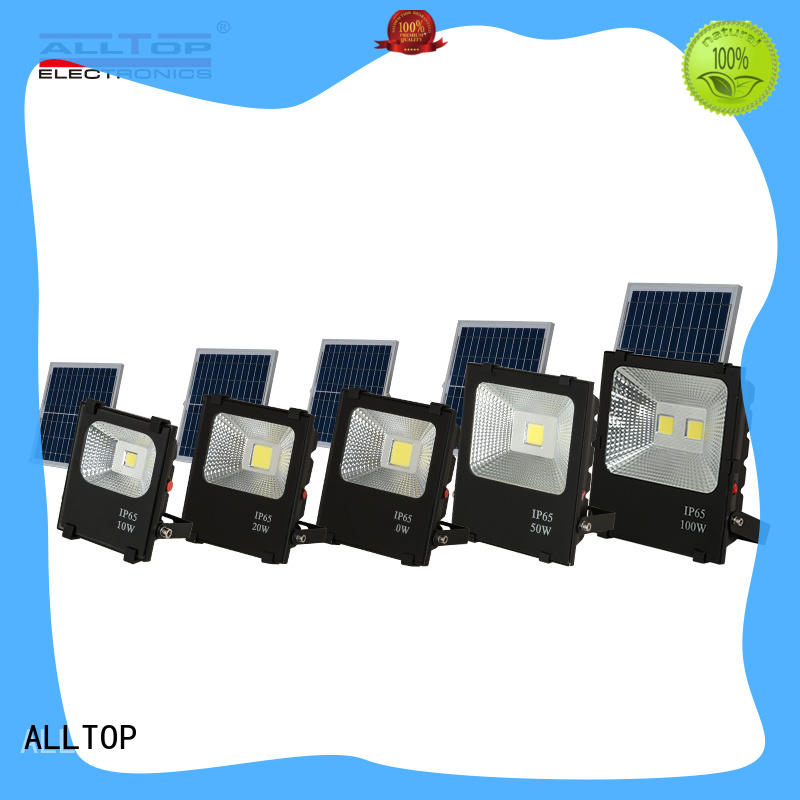 rechargeable solar floodlight ODM for stadium