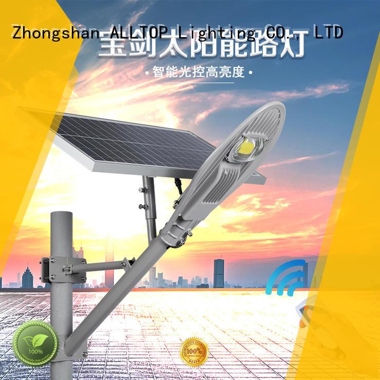 ALLTOP die-casting solar street light kit shining rightness for playground