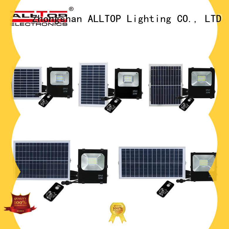 ALLTOP powered solar flood light with on off switch energy-saving for stadium