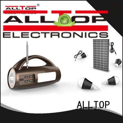 ALLTOP emergency solar house lighting system by-bulk for home