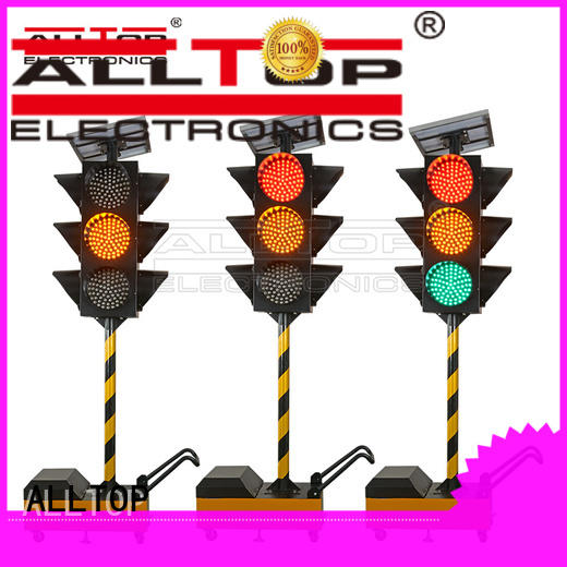traffic waterproof ALLTOP Brand solar powered traffic lights factory