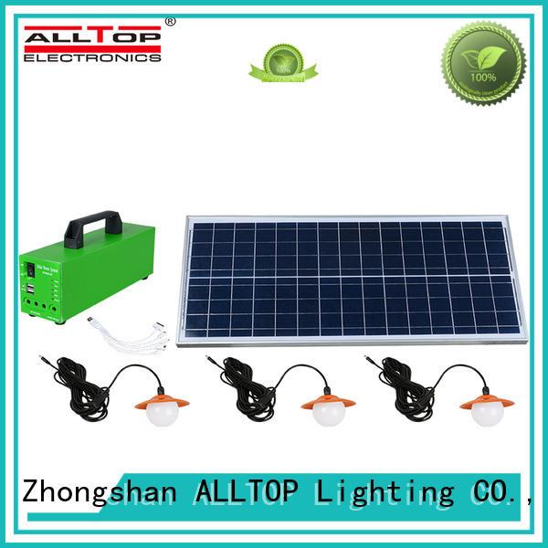 ALLTOP energy-saving solar dc lighting system free sample for camping