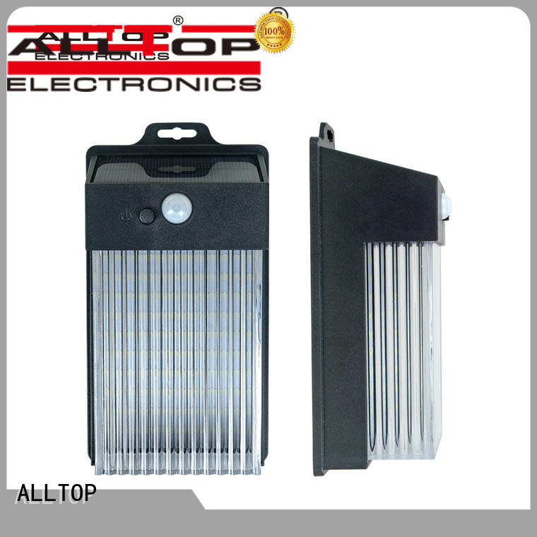 ALLTOP energy-saving solar wall sconce wide usage for street lighting