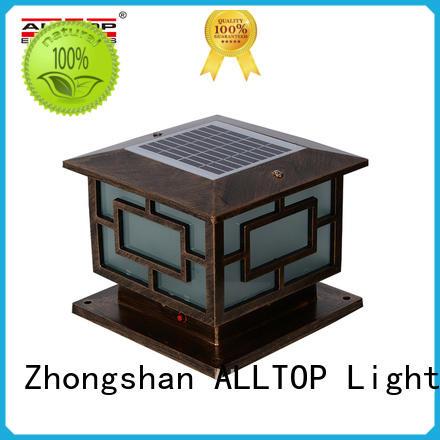main gate solar powered yard lights manufacturer for landscape ALLTOP