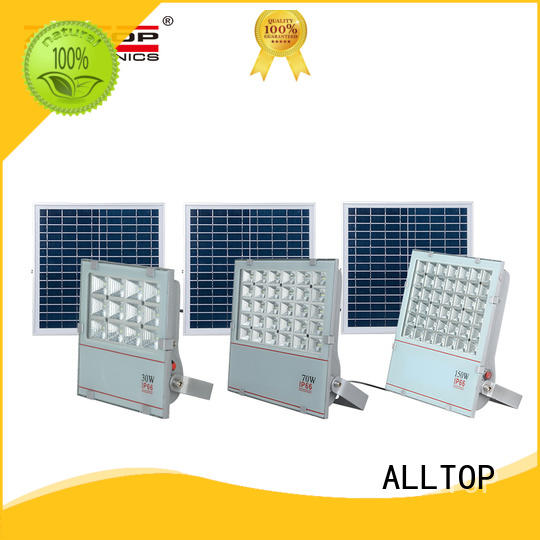 ALLTOP rechargeable solar flood lamp company for stadium