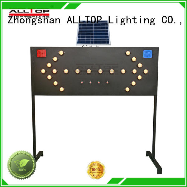 ALLTOP Solar Road Safety Signs Board Traffic Guide LED Light