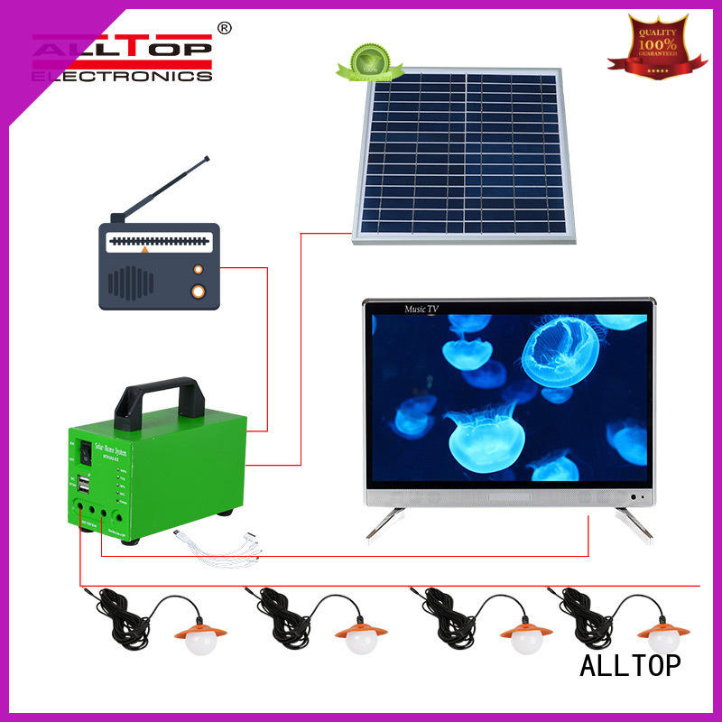 ALLTOP Brand potable backup led solar led lighting system manufacture