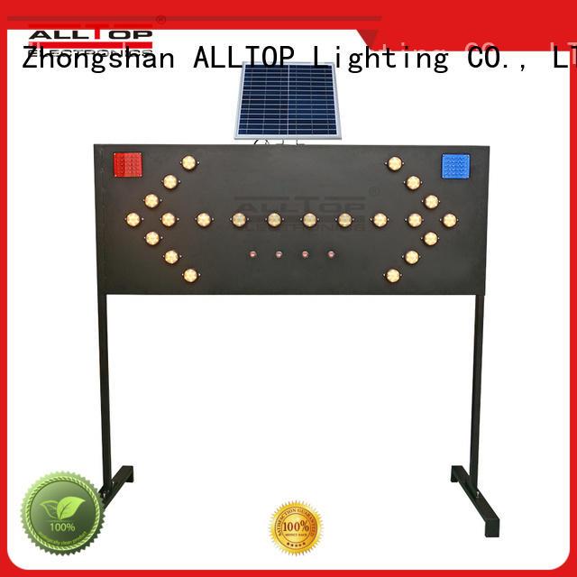 double side solar traffic blinker mobile for factory ALLTOP
