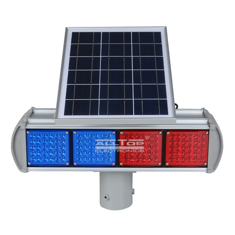 ALLTOP -Hight Quality Solar Power Led Flashing Light Warning Traffic Light-2