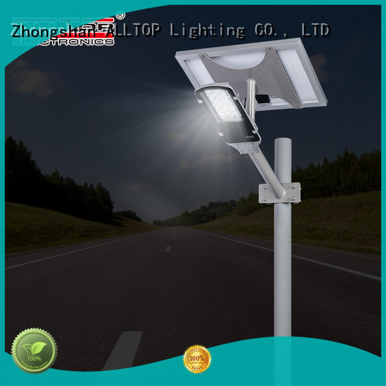 ALLTOP motion sensor 12w solar street light shining rightness for outdoor yard