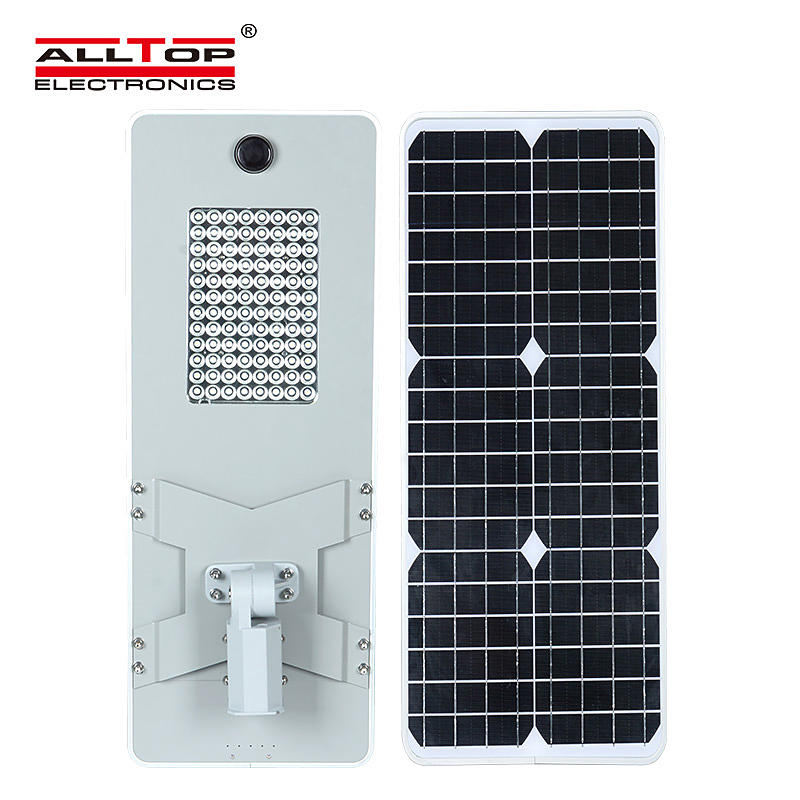 ALLTOP 50W 100W 150W 200W IP65 outdoor integrated motion sensor all in one solar led street light-2