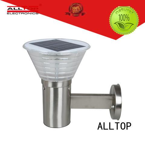 ALLTOP solar pir wall light housing for street lighting