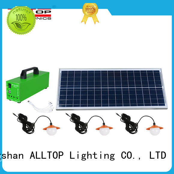 ALLTOP abs solar dc lighting system by-bulk for outdoor lighting