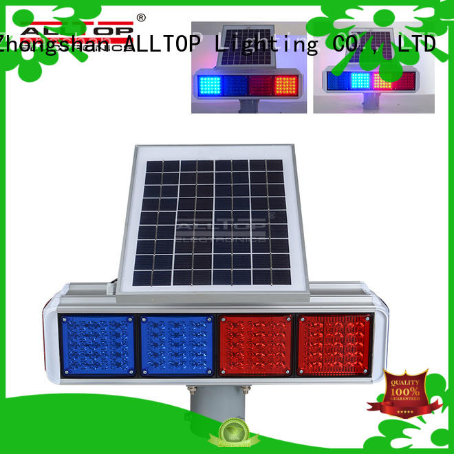 ALLTOP double side solar traffic blinker signal for hospital