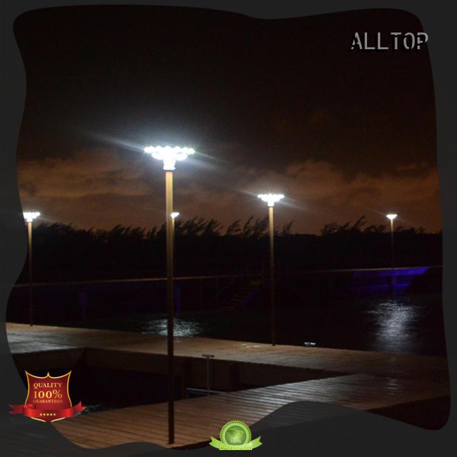 modern solar solar powered light post waterproof led ALLTOP Brand