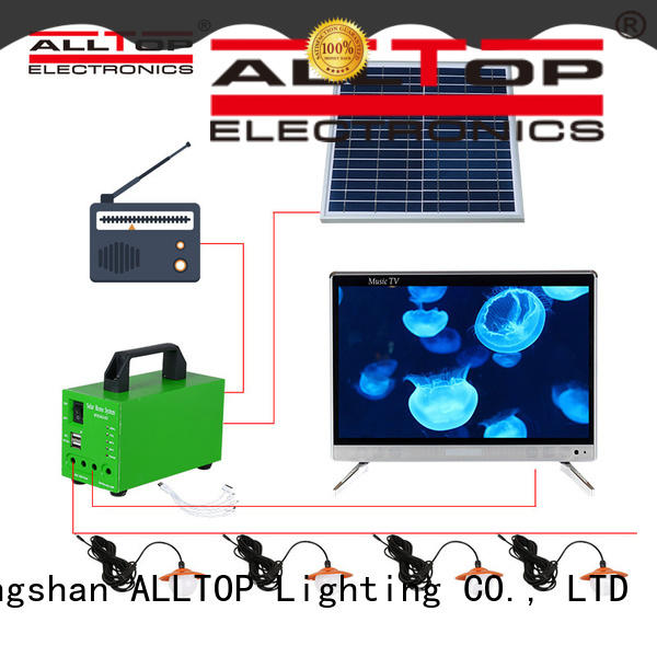 portable 12v solar lighting system supplier for outdoor lighting
