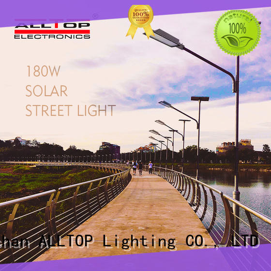 motion sensor 50w ip65 solar led street light shining rightness for lamp ALLTOP