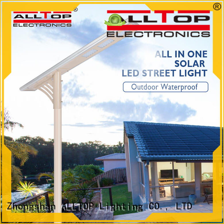 all in one solar led street light flood for road ALLTOP