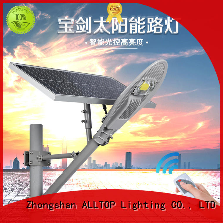 motion sensor 120w high quality solar led street light power for playground ALLTOP