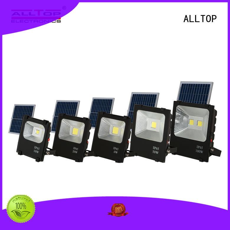 ALLTOP rechargeable solar powered flood lights outdoor aluminum alloy for spotlight
