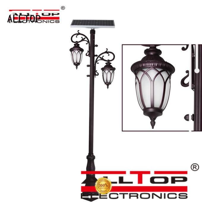 led light solar pillar lights pillar ALLTOP
