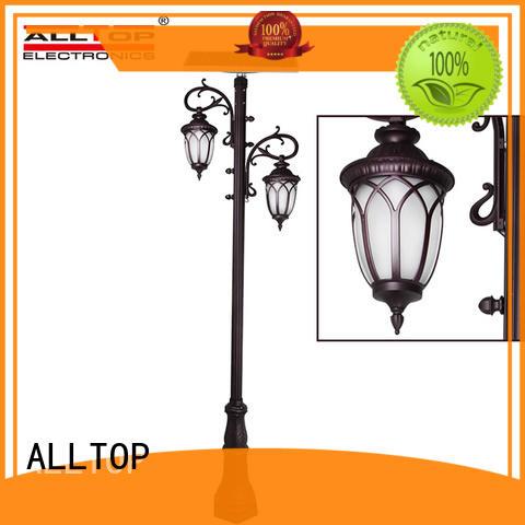 outdoor modern solar pillar lights decoration ALLTOP company