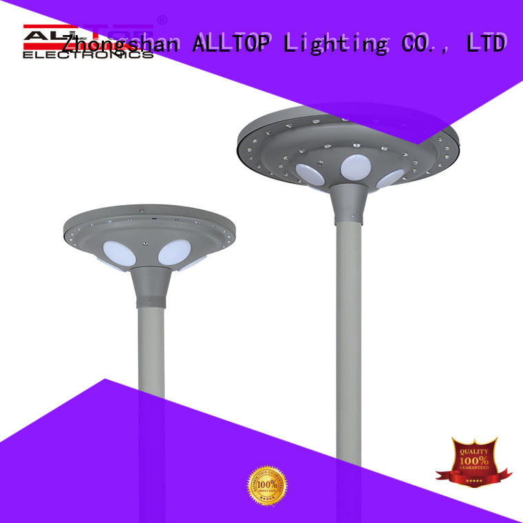 ALLTOP energy saving solar powered light post at discount for decoration