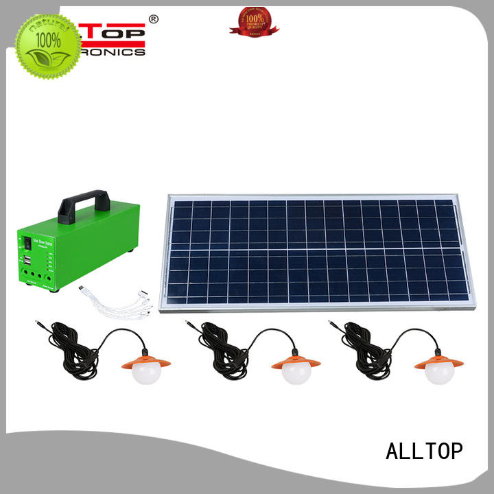 ALLTOP Brand product battery solar led lighting system led factory