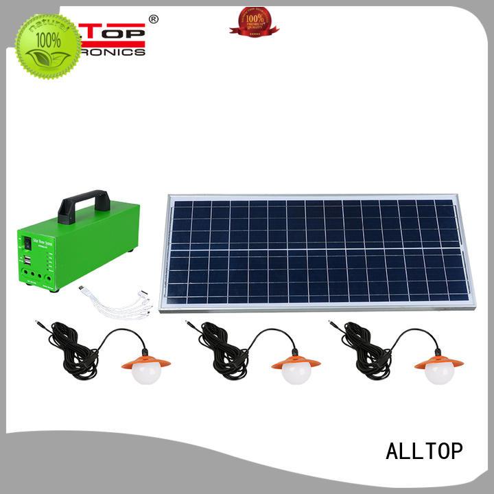 ALLTOP Brand product battery solar led lighting system led factory