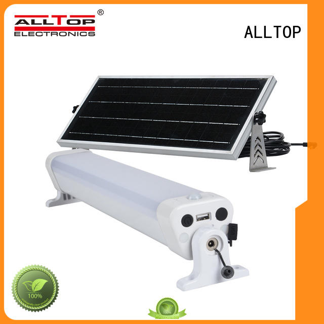 ALLTOP cob ip65 solar led street light aluminum for lamp