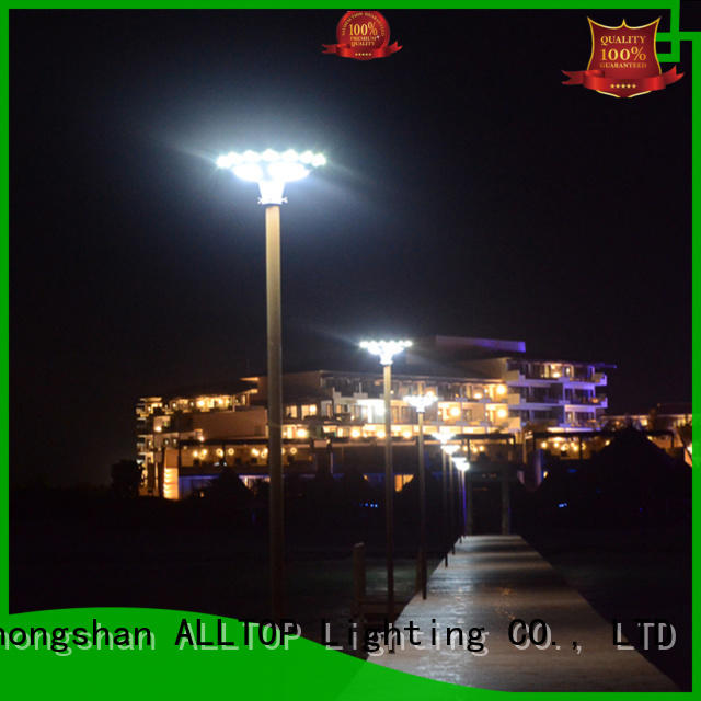 integrated solar garden lamp post at discount for decoration ALLTOP