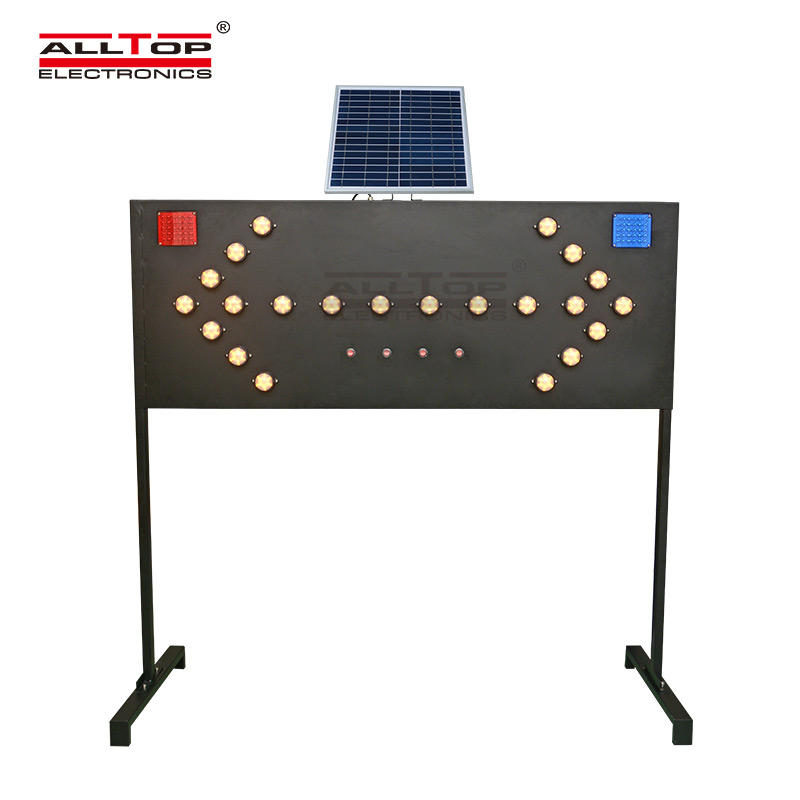 ALLTOP double side solar traffic light signal for security-1