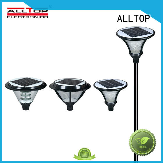ALLTOP custom watt solar pillar lights main gate for landscape