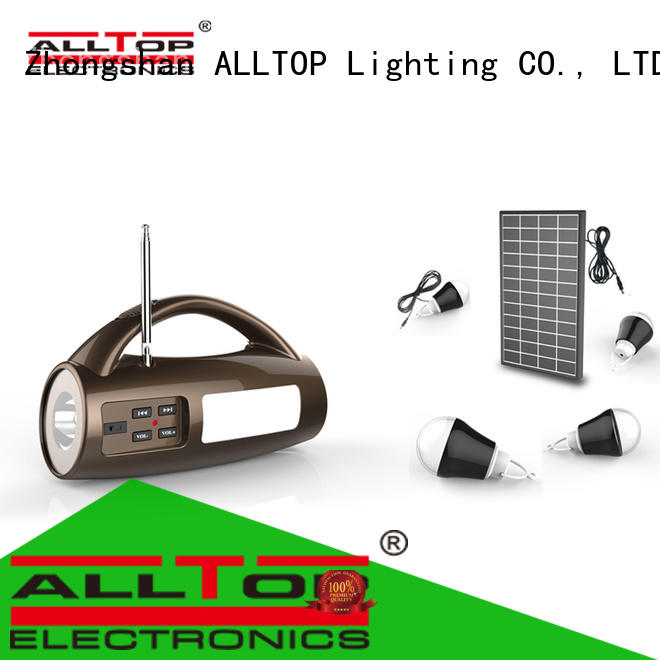 ALLTOP energy-saving solar led lighting system at discount for camping