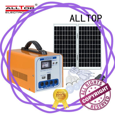 ALLTOP 12v solar lighting system factory direct supply for camping