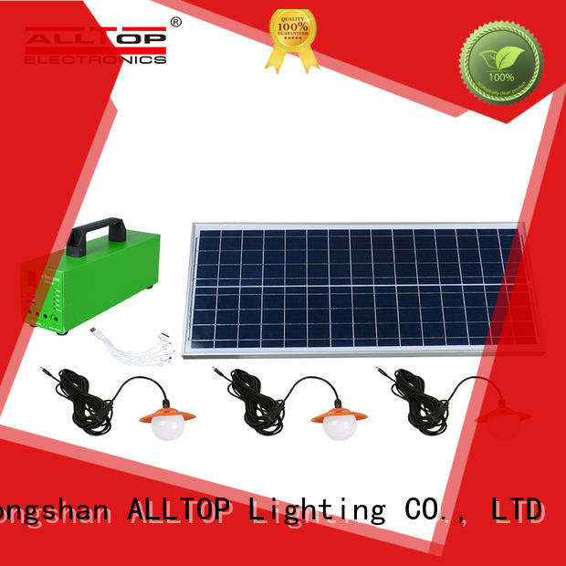 ALLTOP portable solar house lighting system emergency for outdoor lighting