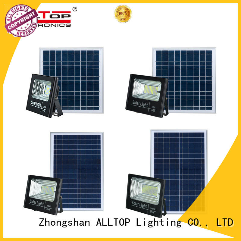 ALLTOP rechargeable solar flood light kit custom for spotlight