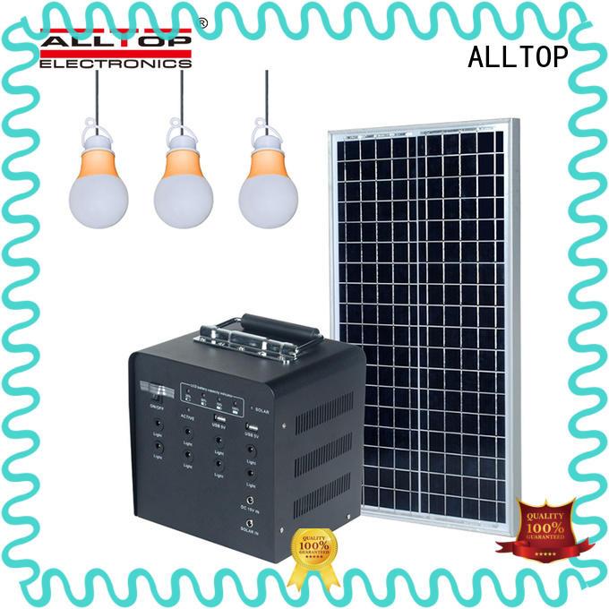 ALLTOP solar lighting system on-sale for battery backup