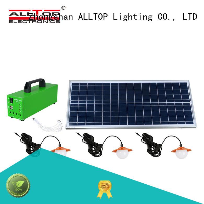solar power lighting system emergency for battery backup ALLTOP