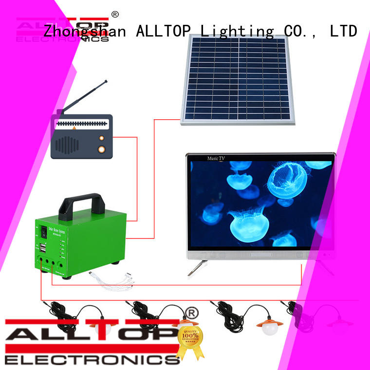solar potable backup solar led lighting system ALLTOP Brand company
