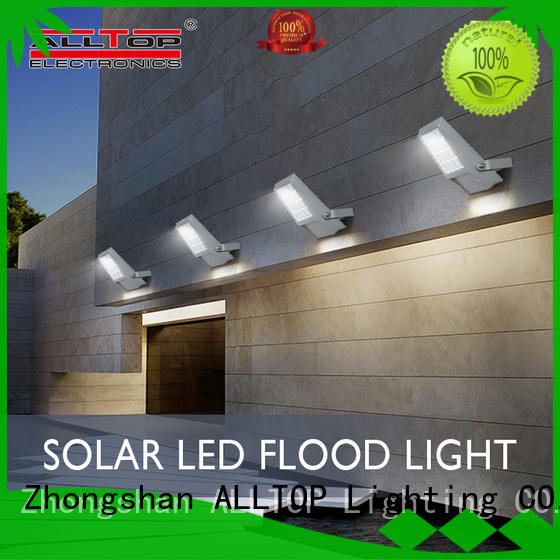 ALLTOP solar powered motion flood lights OEM for stadium