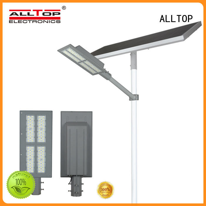 ALLTOP die-casting solar street lights for sale shining rightness for landscape