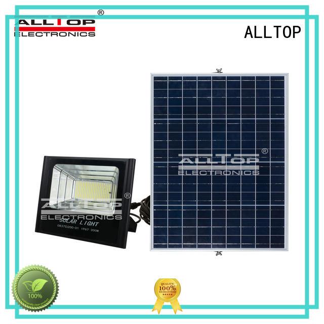oem ip65 aluminum ALLTOP Brand solar flood light kit factory