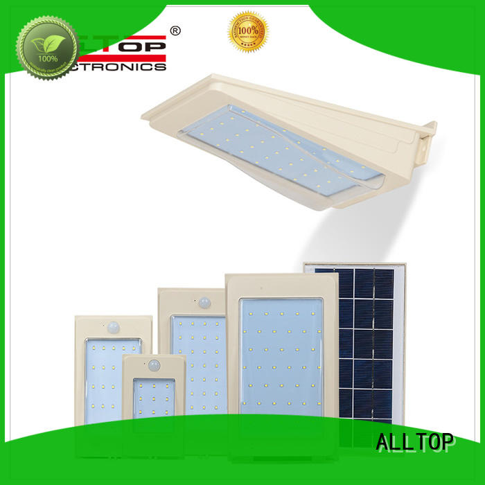 ALLTOP solar pir wall light housing for garden