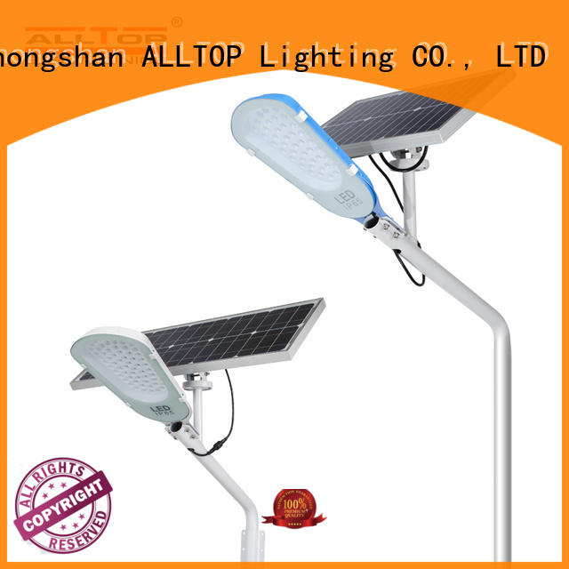 ALLTOP solar led street light shining rightness for lamp