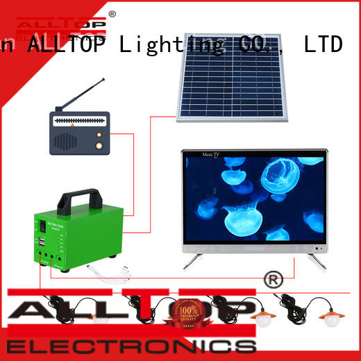 ALLTOP abs 12v solar lighting system for wholesale for camping